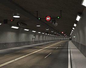 3D model Tileable road tunnel 01