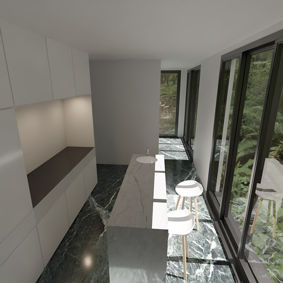 Random interiors and some architecture