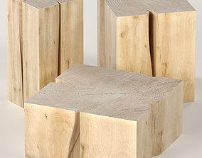 Three coffee table stump 3D