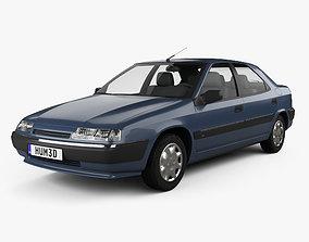 Citroen Xantia hatchback 1994 3D model