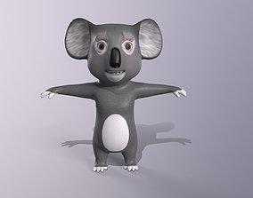 3D asset Koala Cartoon character