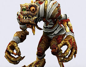 animated game-ready 3DRT - Fantasy Ghouls