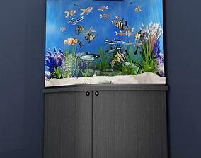 3D underwater Corner aquarium