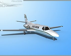 rigged Falcon3D Citation V C560 F03