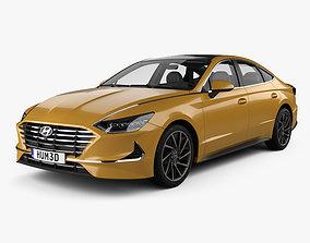 3D Hyundai Sonata with HQ interior 2020