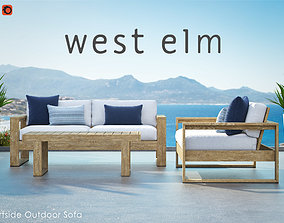 3D model West Elm Portside Outdoor Sofa