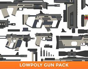 3D model LowPoly Gun Pack