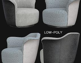 Poltrona Frau AIDA low poly 3d model game-ready
