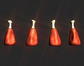 3D asset Raw Meat high