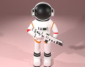 Astronaut 3D model rigged game-ready
