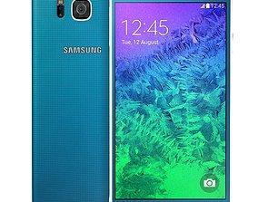 Samsung Galaxy Alpha Scuba Blue cell 3D