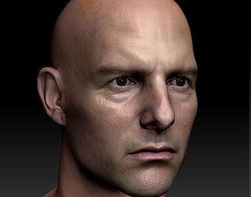 game-ready 3d model Tom Cruise head ztl obj