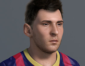 Lionel Messi 3D model rigged VR / AR ready