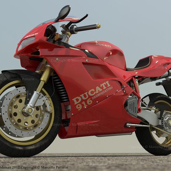 Ducati 916 - iray