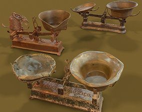 3D model realtime 3 Old Rusty Scale Collection