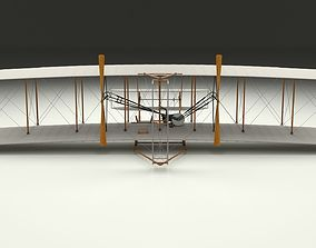 Rigged Wright Flyer 1903 3D