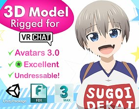 Uzaki-chan VRChat 3D model rigged