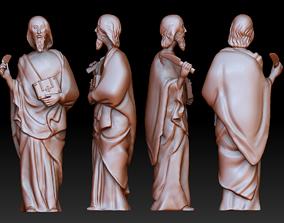 Statue 4 of saint Notre Dame 3D print model