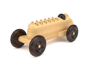 Wooden toy car 22 3D