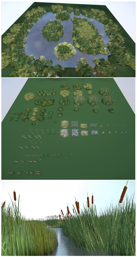 Low-Poly Reeds Package