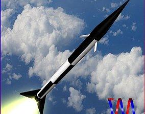3D model Black Brant I Sounding Rocket