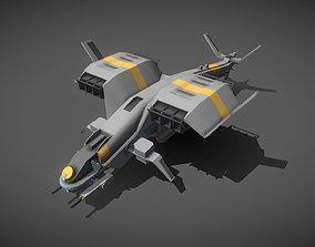3D asset Gunship