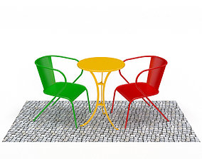 3D asset Portuguese Chair and Table