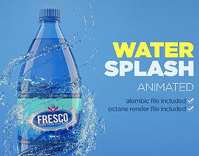 3D beverage Splash Water Animated