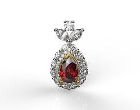 3D print model Gemstone Pendant Necklaces