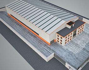 Industrial Building Factory 4 3D