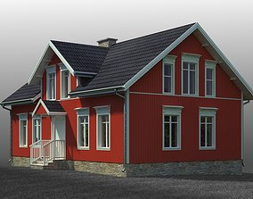 3D small Swedish house