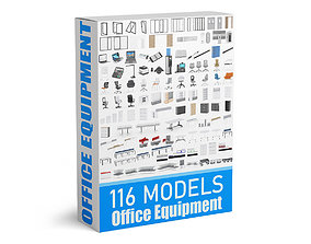 3D 116 Office Equipment Collection