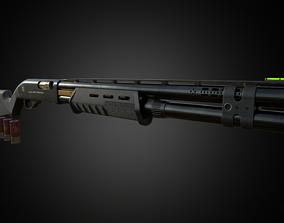 M870 Shotgun PBR 3D model