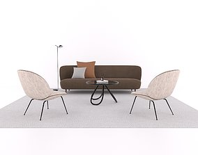 Model Set 01 Stay Sofa Arch Coffee Table Beetle Lounge