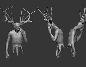 3D printable model fantasy man horned