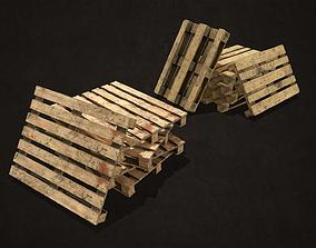 3D asset VR / AR ready Wooden Pallets