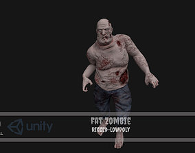 Fat Zombie 3D asset rigged