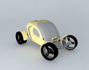 3D model Pumpkin Car