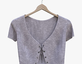 3D model Top with lacing