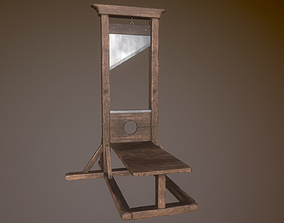 3D asset Animated Guillotine PBR
