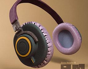 electronics 3D model Headphones