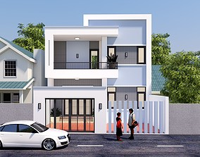 House design 3d model animated marbel
