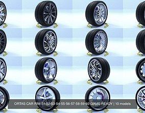 ORTAS CAR RIM 51-52-53-54-55-56-57-58-59-60 GAME READY 3D