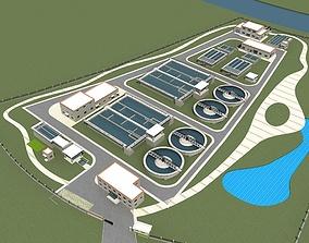 Sewage Water Treatment Station 3D model