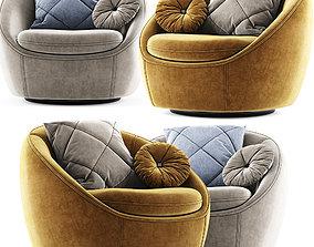 Cozy Swivel Chair Westelm 3D model