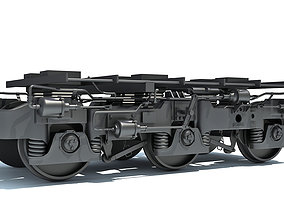 Hi-Ad Train Trucks Wheels 3D model