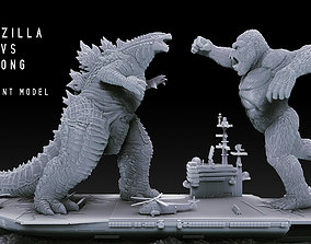 3D printable model Godzilla vs Kong Diorama