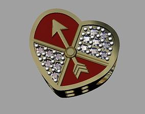 3D print model Heart Pandora Bead symbol