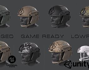 3D model rigged realtime Helmet