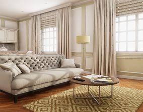 HQ Modern Classic Interior 3D asset